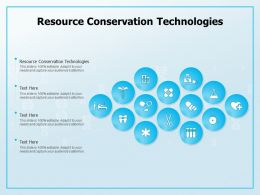Resource Conservation Technologies Ppt Powerpoint Presentation Show Graphics Design