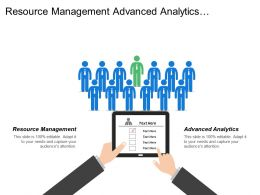 Resource Management Advanced Analytics Marketing Mix Optimization Price Optimization