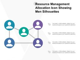 Resource Management Allocation Icon Showing Men Silhouettes