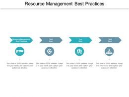 Resource Management Best Practices Ppt Powerpoint Presentation Infographics Graphics Cpb