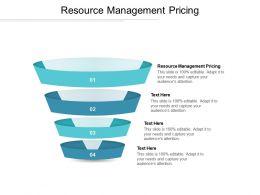 Resource Management Pricing Ppt Powerpoint Presentation Professional Slide Portrait Cpb