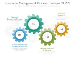 Resource Management Process Example Of Ppt