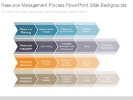 Resource Management Process Powerpoint Slide Backgrounds