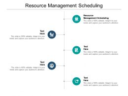 Resource Management Scheduling Ppt Powerpoint Presentation Pictures File Formats Cpb