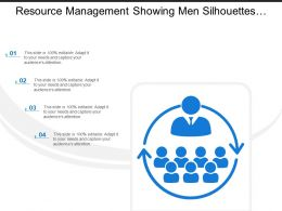 Resource Management Showing Men Silhouettes With Circular Arrows