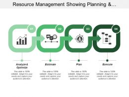 Resource Management Showing Planning And Execution