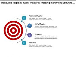 Resource Mapping Utility Mapping Working Increment Software Land