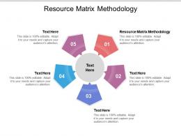 Resource Matrix Methodology Ppt Powerpoint Presentation Portfolio Clipart Cpb