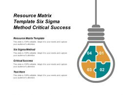 Resource Matrix Template Six Sigma Method Critical Success Cpb