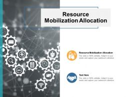 Resource Mobilization Allocation Ppt Powerpoint Presentation Summary Show Cpb