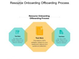 Resource Onboarding Offboarding Process Ppt Powerpoint Presentation Template Show Cpb