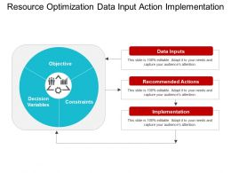 Resource Optimization Data Input Action Implementation
