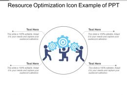 Resource Optimization Icon Example Of Ppt