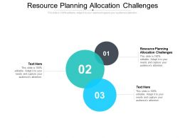 Resource Planning Allocation Challenges Ppt Summary Graphics Example Cpb