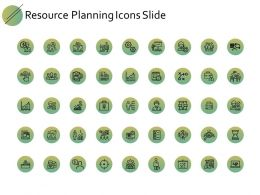 Resource Planning Icons Slide Gears Ppt Powerpoint Presentation Gallery