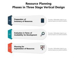 Resource Planning Phases In Three Stage Vertical Design