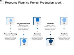 Resource Planning Project Production Work Center Management Visual Analysis