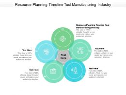 Resource Planning Timeline Tool Manufacturing Industry Ppt Powerpoint Presentation Ideas Maker Cpb