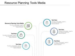 Resource Planning Tools Media Ppt Powerpoint Presentation Summary Cpb