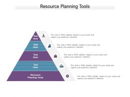 Resource Planning Tools Ppt Powerpoint Presentation Information Cpb