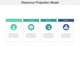 Resource Projection Model Ppt Powerpoint Presentation Ideas Professional Cpb