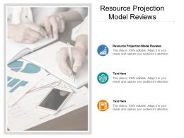 Resource Projection Model Reviews Ppt Powerpoint Presentation Gallery Smartart Cpb