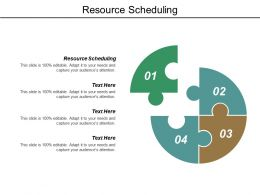 Resource Scheduling Ppt Powerpoint Presentation File Format Ideas Cpb