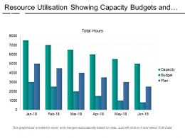 Resource Utilisation Showing Capacity Budgets And Plans