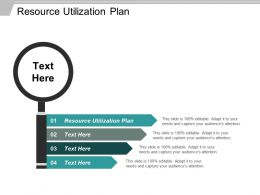 Resource Utilization Plan Ppt Powerpoint Presentation File Example Introduction Cpb