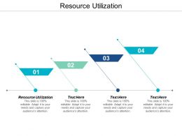 Resource Utilization Ppt Powerpoint Presentation Gallery Objects Cpb