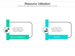 Resource Utilization Ppt Powerpoint Presentation Inspiration Layout Cpb