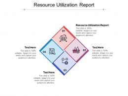 Resource Utilization Report Ppt Powerpoint Presentation Infographic Template Example Topics Cpb