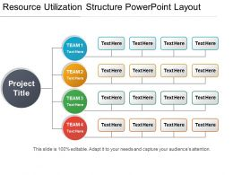 Resource Utilization Structure Powerpoint Layout