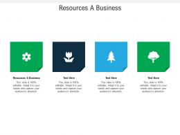 Resources A Business Ppt Powerpoint Presentation Show Design Ideas Cpb
