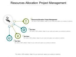 Resources Allocation Project Management Ppt Powerpoint Presentation Summary Clipart Images Cpb