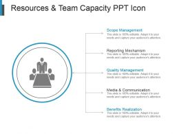 Resources And Team Capacity Ppt Icon