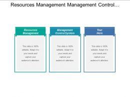 Resources Management Management Control System Cultural Transformation Management
