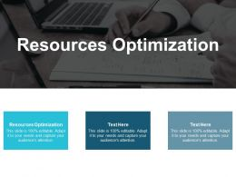 Resources Optimization Ppt Powerpoint Presentation Gallery Introduction Cpb