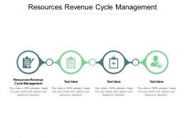 Resources Revenue Cycle Management Ppt Powerpoint Presentation Infographics Designs Cpb
