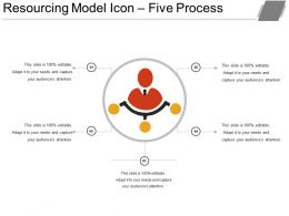 Resourcing Model Icon Five Process Ppt Sample Download