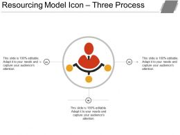 Resourcing Model Icon Three Process Ppt Examples Slides