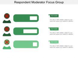 Respondent Moderator Focus Group