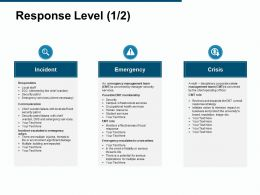 Response Level Incident Communication Ppt Powerpoint Presentation Gallery Guide