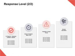 Response Level Response Activities Ppt Powerpoint Presentation Icon Gallery