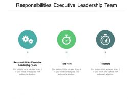Responsibilities Executive Leadership Team Ppt Powerpoint Presentation Infographic Template Cpb