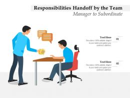 Responsibilities Handoff By The Team Manager To Subordinate