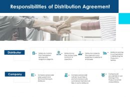 Responsibilities Of Distribution Agreement Ppt Portrait
