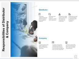 Responsibilities Of Distributor And Company Ppt Powerpoint File