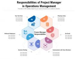Responsibilities Of Project Manager In Operations Management