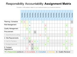 Responsibility Accountability Assignment Matrix